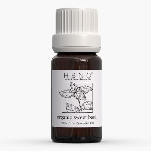 Sweet Basil Essential Oil, Organic