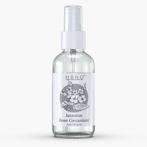 Jasmine Rose Geranium Body Oil Spray